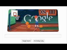 London 2012 Basketball Google Doodle