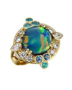 Opal ring by Paula Crevoshay