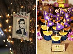 Rapunzel/Tangled Birthday Party-Love the Wanted poster for Flynn Rider!  See more ideas here
