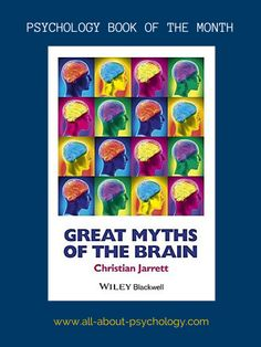 The All About Psychology website book of the month for November is - Great Myths of the Brain by Dr. Christian Jarrett. Click on image or see following link for details of this excellent book and all the previous book of the month entries. www.all-about-psychology.com/psychology-books.html     #psychology #PsychologyBooks