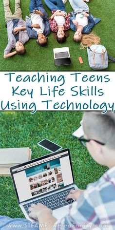 Teach your teens important life skills using technology. Go beyond using tech as a toy and show them how to use tech for research, money management and Fun Learning, Teaching Kids, Educational Activities, Activities For Kids, Homeschool Curriculum, Homeschooling, Steam Education, Child Life, Life Skills