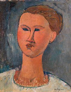 Modigliani, Head of a Young Woman