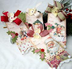 Christmas Handmade Tag set by iralamijashop on Etsy, $12.00