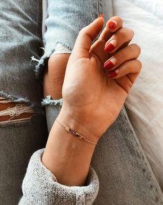 Diy nails 654077545869879909 - Red Half Moon Nail Art Idea Source by ecemella Valentine's Day Nail Designs, Short Nail Designs, Nail Polish Designs, Nail Art Cute, Cute Nails, Pretty Nails, Minimalist Nails, Nail Manicure, Diy Nails