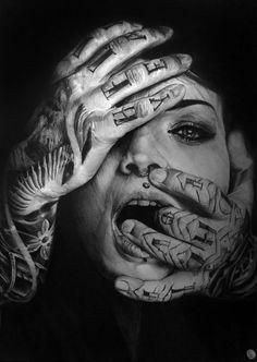 Joanna Staubach by Portrait Lc #art #portrait #tattoo https://www.facebook.com/PortraitLc