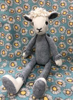 Make Me Daisy the Sheep (includes stuffing) - CoolCrafting Daisy Naked Raggy Dolls, Sock Dolls, Felt Dolls, Crochet Dolls, Handmade Stuffed Animals, Sewing Stuffed Animals, Stuffed Toys Patterns, Alpacas, Fabric Toys