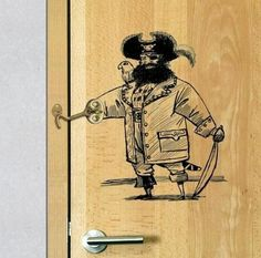 Here is a pretty creative & fun way of dressing up an otherwise boring door hook lock!   Aaarrgggh, matey! - Cool Sci-Fi Forums