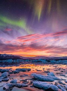 Beautiful dance of aurora
