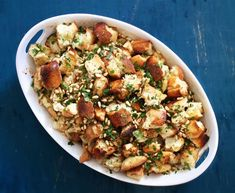 Thanksgiving 2015: Rustic Bread Stuffing with Fennel and Pine Nuts
