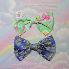 ♥ Japanese Hair Bow, Lolita Hair Bow, Kimono Hair Bow ♥  https://www.etsy.com/shop/starlightsparkles