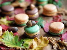 Podzimní makronky Macarons - autumn Macarons, Cheesecake, Desserts, Food, Tailgate Desserts, Deserts, Cheesecakes, Essen, Macaroons