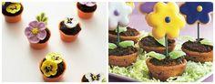 Flores de biscoito para festa infantil Jardim