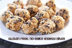 Gluten Free, No-Bake Energy Bites {Use GF Rice Krispies, instead of oats!}