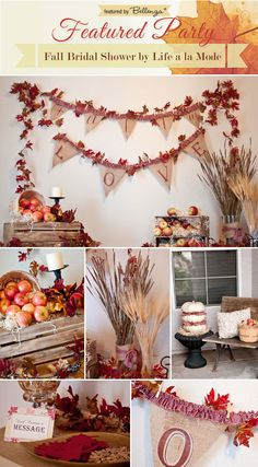 Heartwarming Homemade Touches for a Rustic Fall Bridal Shower. #fallbridalshowers