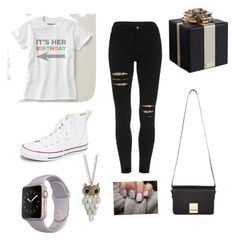 """""""Birthday"""" by oxannarotar on Polyvore featuring Converse, Kate Spade, Jaeger, Aéropostale, women's clothing, women's fashion, women, female, woman and misses"""