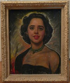 Spectacular Antique Oil Painting Portrait of a Woman by dixielarue, $795.00