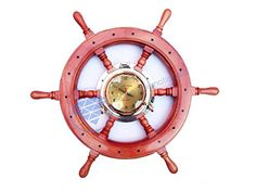 Premium Red Pine Wood Nautical Captain's Ship Wheel With ... http://www.amazon.com/dp/B01FKJEB9G/ref=cm_sw_r_pi_dp_xVEoxb0F09ZFP