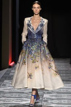 While Laurence Xu's designs might be too busy for purists, they have a theatrical impact. [Photo by Giovanni Giannoni]