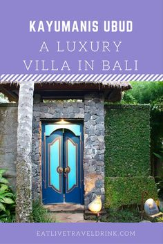 A luxury private villa right outside of Ubud city center in Bali. Perfect luxury for the traveler seeking it all.