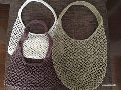 【編み図】ネット編みのストックバッグ