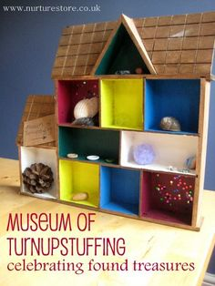 Do your kids collect things when they're out and about? What do you do with their treasures? Here's an idea to celebrate their found art treasures and create a Museum of Turnupstuffing.