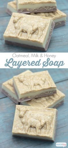 This homemade oatmeal soap has a layer of moisturizing goat's milk and an exfoliating layer of oatmeal and shea butter and a light and lovely scent. It takes only minutes to make in your kitchen. You just need a microwave, a measuring cup, a food processor and some soapmaking supplies.