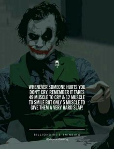 33 Joker Quotes to fill you with Craziness. Swag Quotes, Boy Quotes, Wisdom Quotes, Words Quotes, Life Quotes, Qoutes, Sayings, Heath Ledger Joker Quotes, Best Joker Quotes