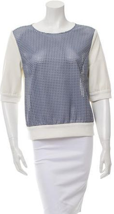 DROMe Perforated Leather Sweatshirt w/ Tags