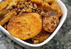 rosemary roasted sweet potatoes.