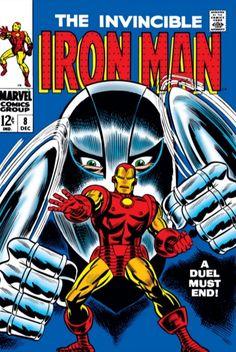 Iron Man # 8 , December 1968 , Marvel Comics Vol 1 1968 On the cover : Iron Man [ Tony Stark ] ; Iron Man Comic Books, Marvel Comic Books, Comic Movies, Comic Book Characters, Comic Books Art, Comic Art, Book Art, Comic Poster, Silver Age Comics