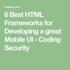 Ajax programming javascript event handlers biz pinterest 6 best html frameworks for developing a great mobile ui coding security fandeluxe Image collections
