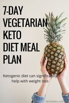 A ketogenic diet is a diet that is low in carbohydrates, high in fat, and has a moderate level of protein. This is a detailed meal plan for the vegetarian ketogenic diet. Foods to eat, foods to avoid and a sample 7-day vegetarian keto diet meal plan & menu. | https://dietingwell.com/vegetarian-keto-diet/