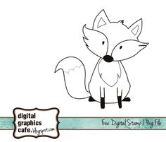 fox stamp images | Fox free digital stamp and vector graphics free download