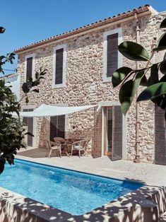 Stone Houses, Patios, Villas, Fresco, Outdoor Spaces, Beach House, Rock, Country Houses, Gardens