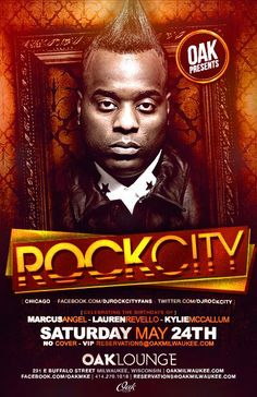 DJ Rock City of Chicago at Oak Lounge Milwaukee this Saturday May 24th!