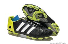 2014 World Cup adidas adipure 11Pro TRX FG Black/Green Football Boots Soccer Cleats