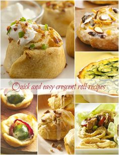 Six Quick Crescent Roll Recipes Plus 10 More Delicious And Easy Recipes (pillsbury recipes pinwheels) Creasant Roll Recipes, Pinwheel Recipes, Easy Recipes, Cooking Recipes, Pillsbury Crescent Roll Recipes, Pillsbury Recipes, Crescent Rolls, A Food, Food And Drink