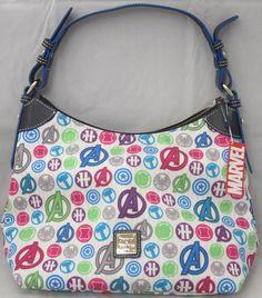 Disney Parks Marvel The Avengers Dooney Bourke White Satchel Bag Le   eBay