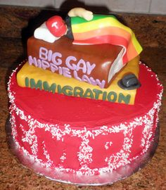 """""""Big gay hippie"""" Lawyer cake, as requested by the graduate lol"""
