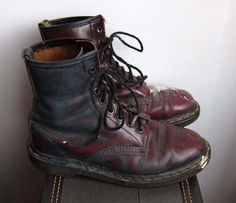 Old grubby boots