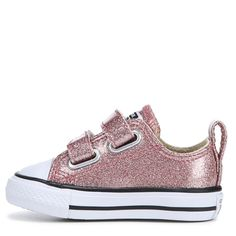 21c36ebaad1b65 Converse Kids  Chuck Taylor All Star 2V Sneaker Toddler Shoes (Rose Gold  Glitter)