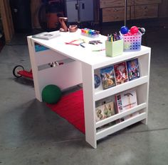 Ana White | Build a Kids Storage Leg Desk | Free and Easy DIY Project and Furniture Plans