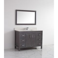 Solid surface single vanity