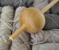 Ball Wooden Drop Spindle Top Whorl by sunniefairy on Etsy, $12.00