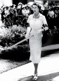 QE II...looking stunning.  People tend to forget that she wasn't always a grandmotherly figure.