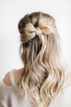 Simple bow updo for Valentine's Day