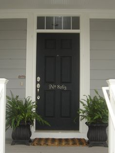 Front Door Entry Numbers Wall Vinyl Decal (E-002)