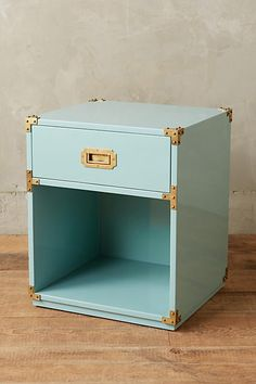Lacquered Wellington Nightstand - anthropologie.com