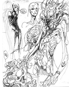 Sketches by Paul Komoda
