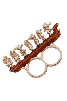 Seven Dwarfs double finger ring siiiickk